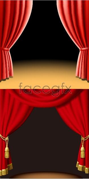 Beautiful curtain vector