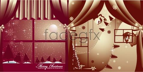 Christmas scenery Vector