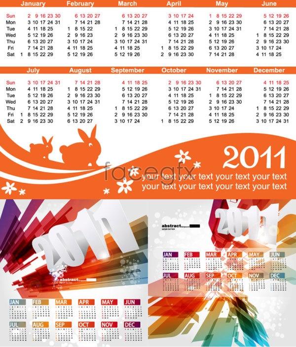 Exquisite wall calendar template Vector
