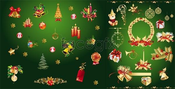 Golden Christmas decoration Vector