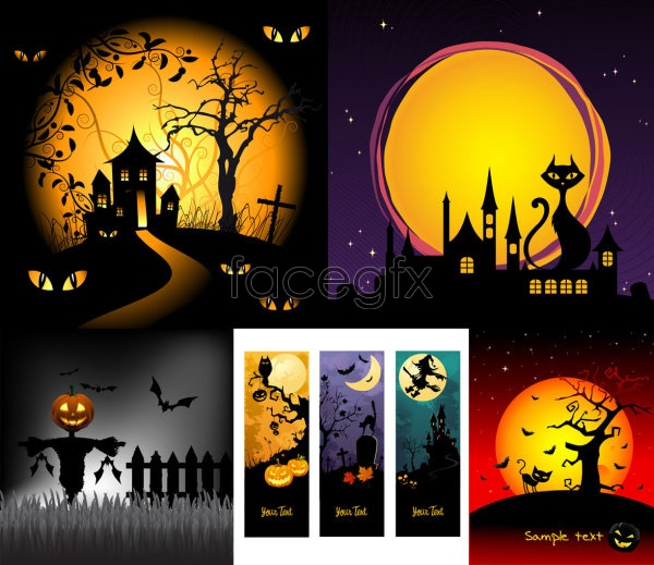 Halloween cartoon illustration Vector