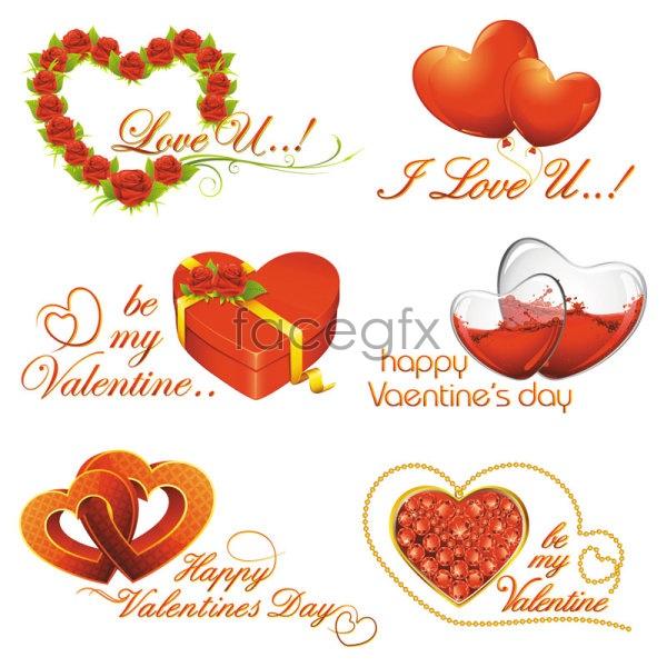 Romantic Valentine's day element 02 Vector