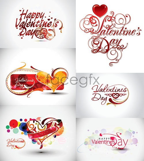 Valentine's day-Word theme Vector