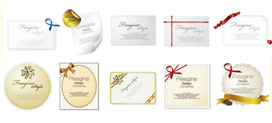 Elegant fashion cards