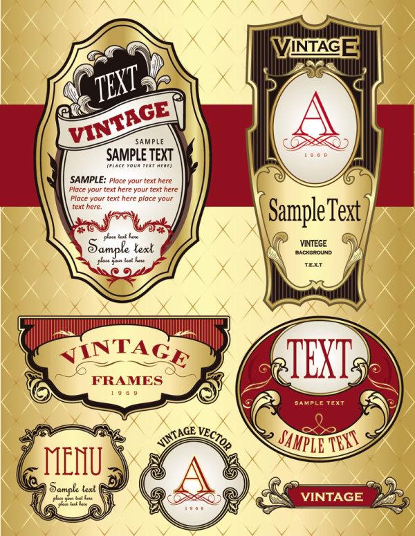 European-style wine bottle labels | Free download