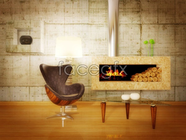 Living room decoration 1 PSD