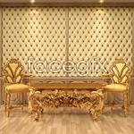 Continental ornate furniture PSD