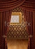 Curtain and wall background PSD