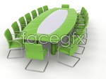 Green Conference tables PSD