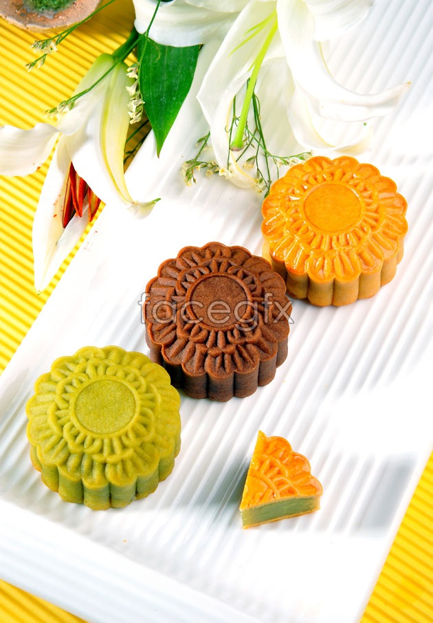 HD mid-autumn moon cake picture