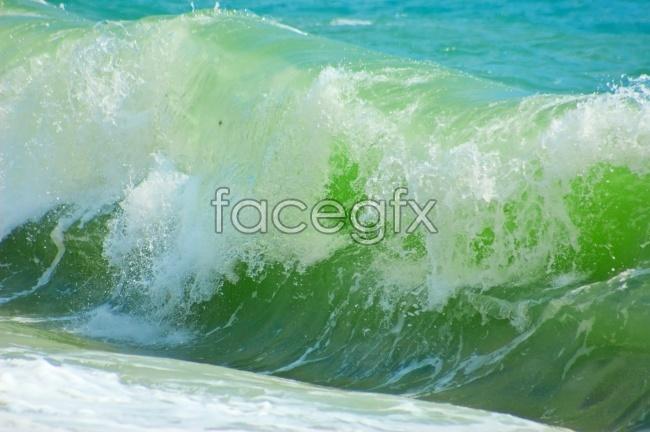 Sea spray picture material