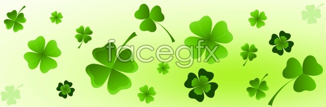 Four-leaf clover background high definition pictures
