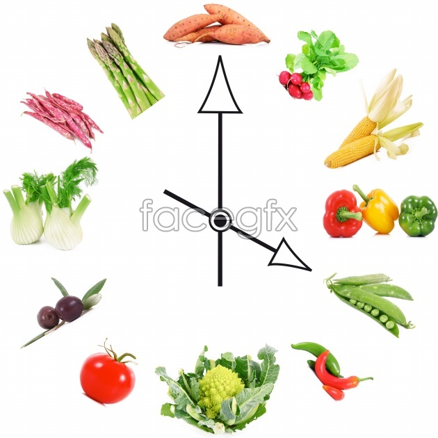 HD food clock picture