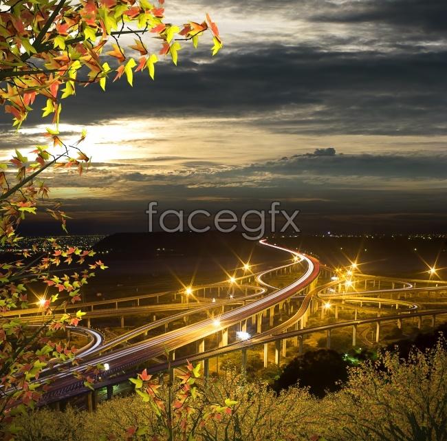 Bridge night view HD pictures