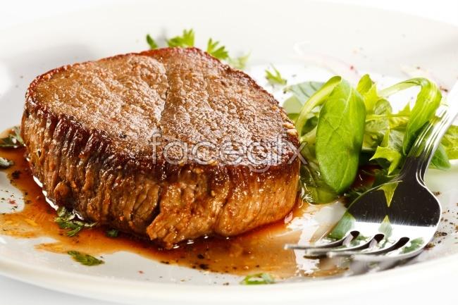 Western beef steak cuisine photos