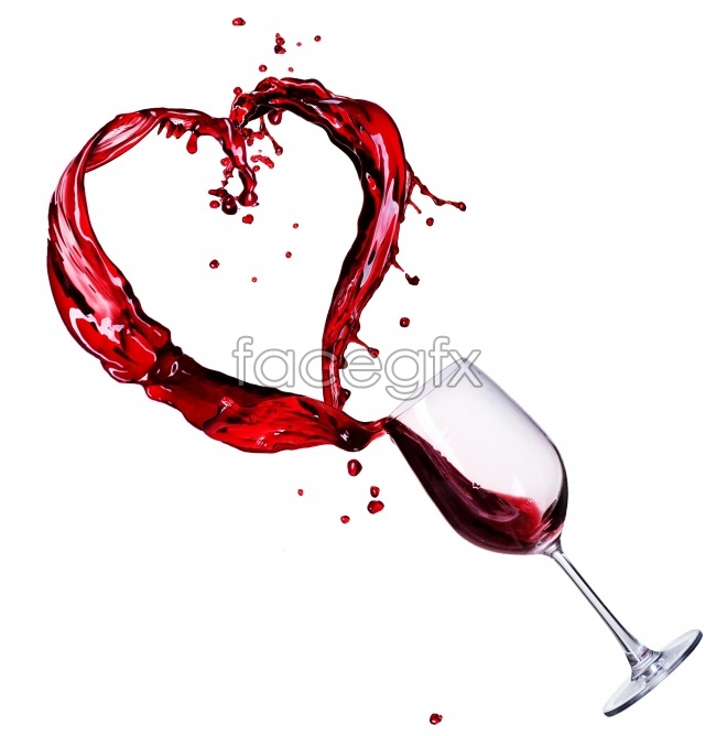 Love goblets of red wine HD pictures