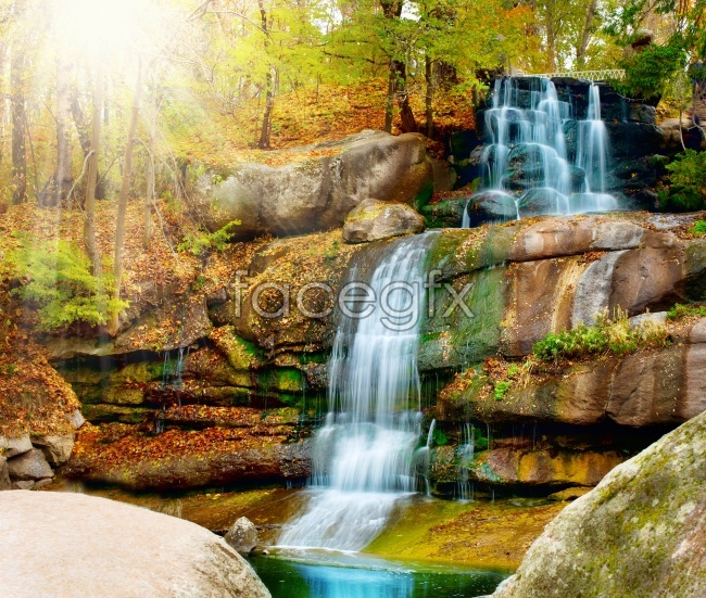 Waterfall landscape picture