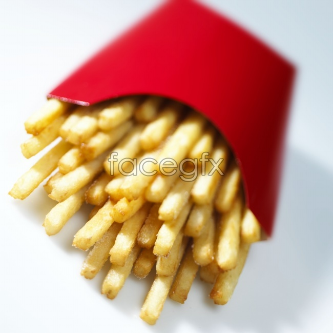 KFC McDonalds fries picture material