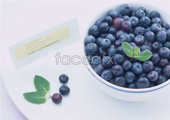 Blueberry fruit picture material