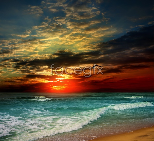 Sunset Beach waves picture
