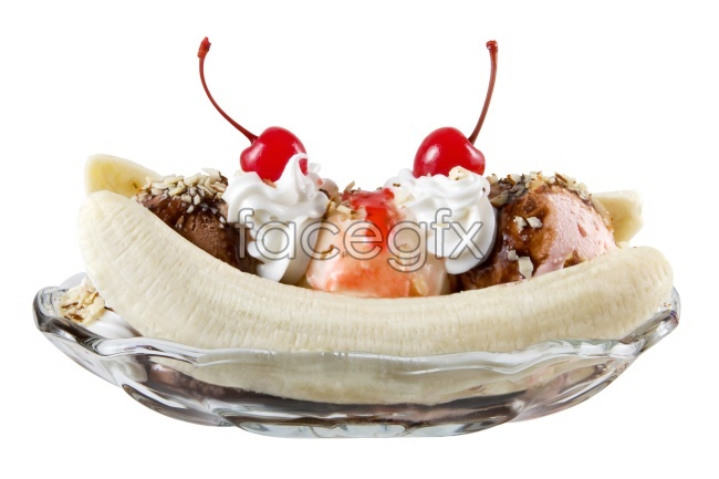 Banana ice cream picture