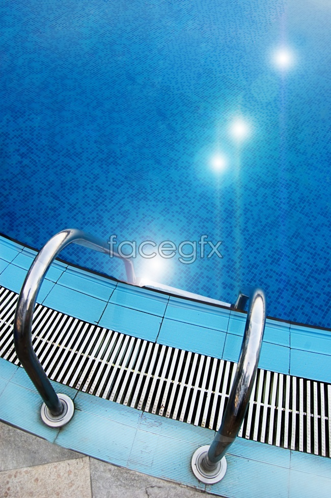 Crystal clear swimming pool picture