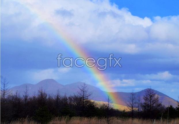 Rainbow sky scenery picture