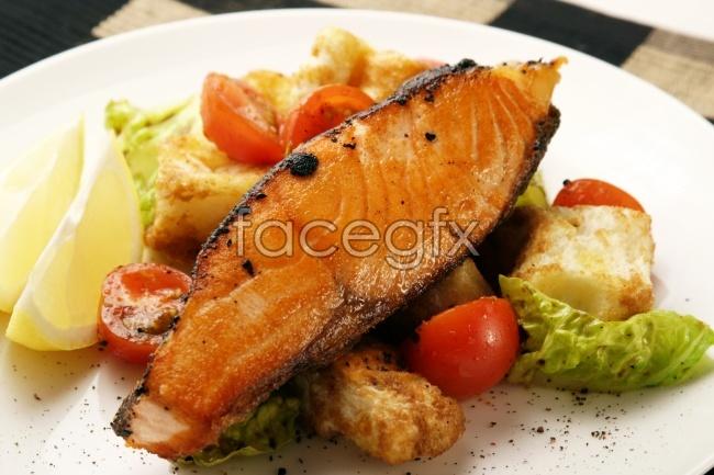 Fried fish food photos