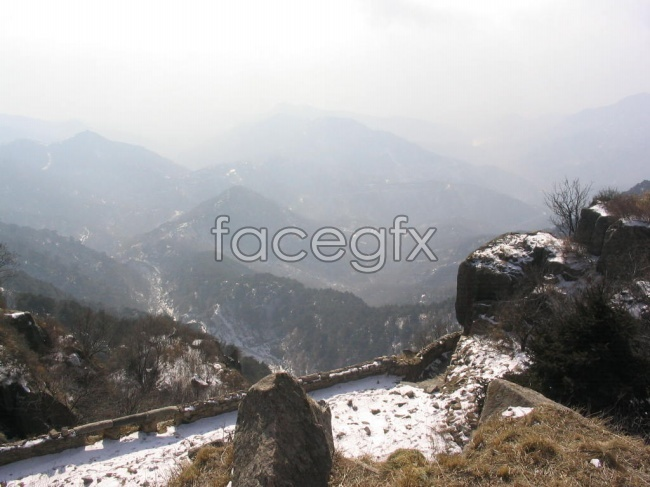 Snow Mountain Taishan Chinese landscape pictures