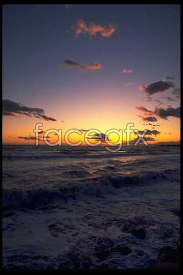 HD Beach evening sunset picture