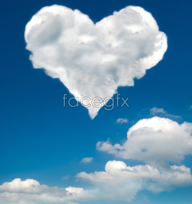 Heart-shaped cloud pictures