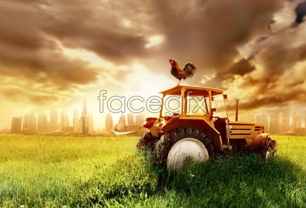 Farm scenery picture material
