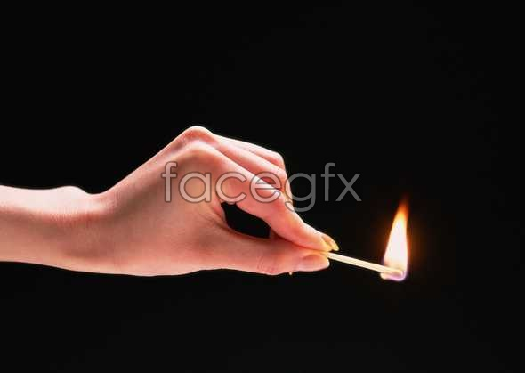 HD hand match flame pictures