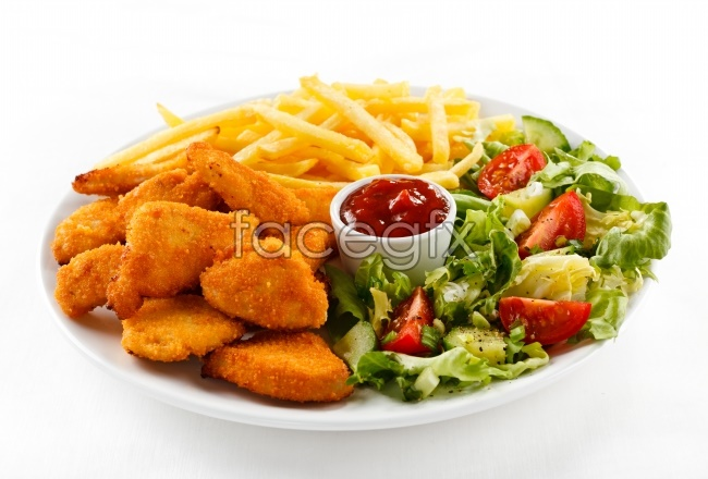 Western cuisine vegetable pictures