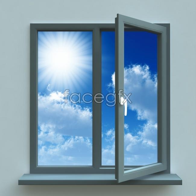 Window Sun blue sky picture