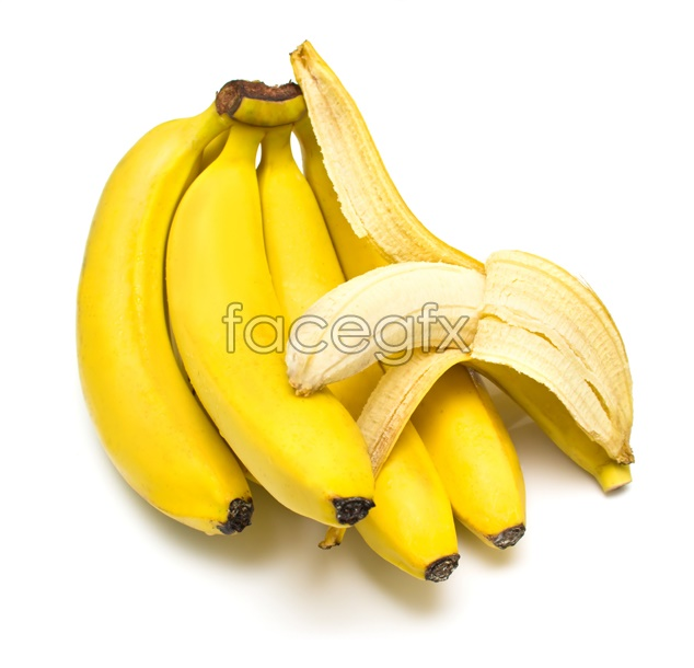 Golden banana material picture