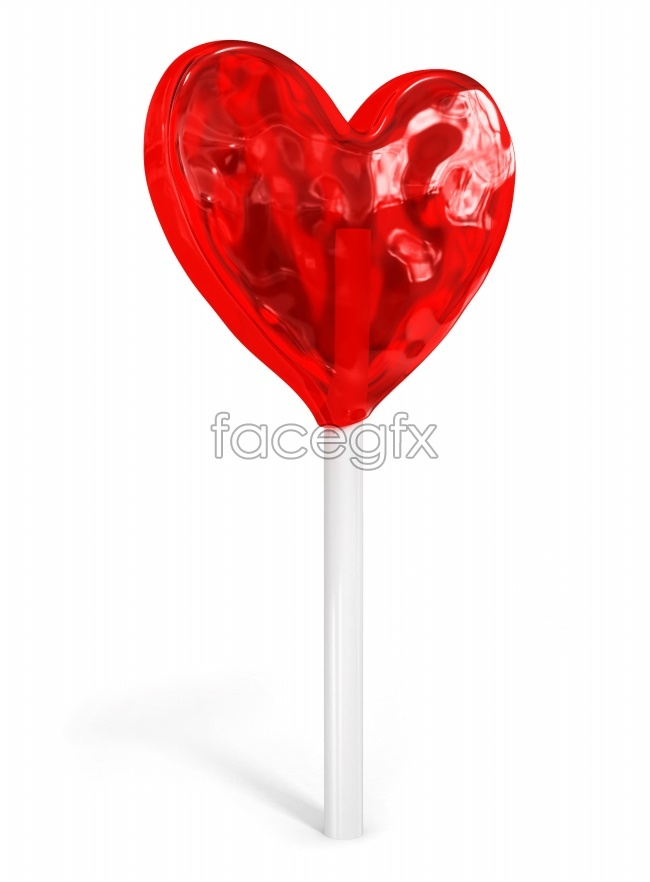 Heart-shaped lollipops HD pictures