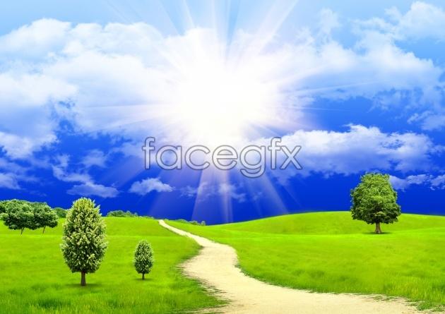 Landscape backgrounds pictures