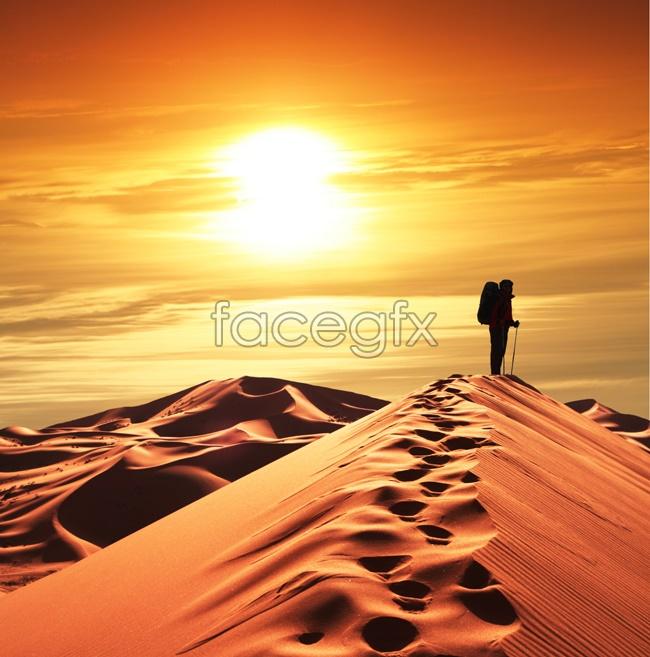 Evening desert background picture