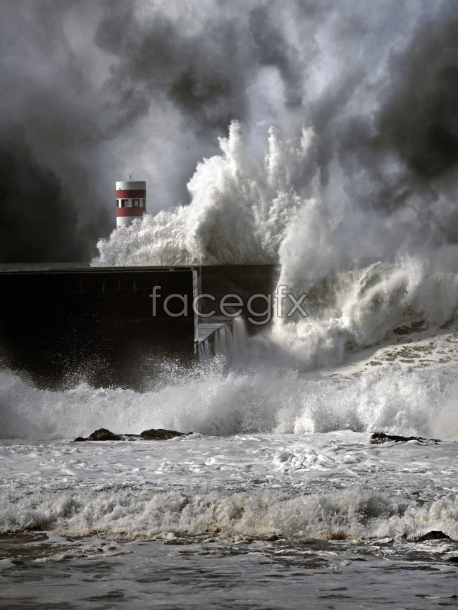 Seaside surf Pier Lighthouse picture