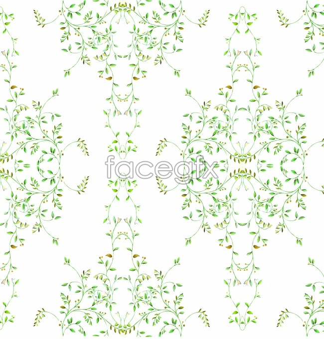 Vines on a white background illustration picture material