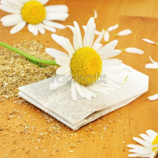 Chrysanthemums and chrysanthemum tea high definition pictures