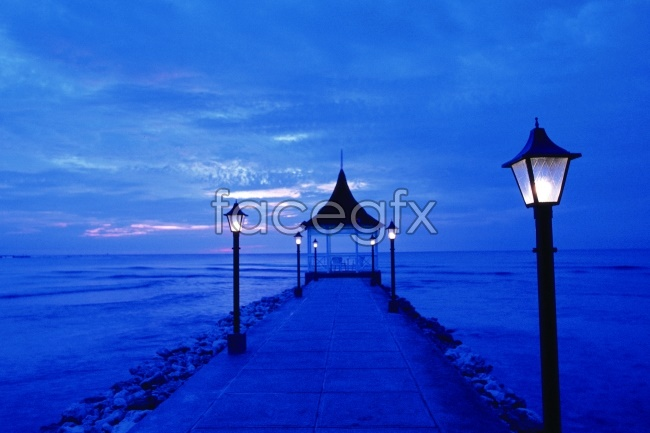 Seaside Pier lights picture