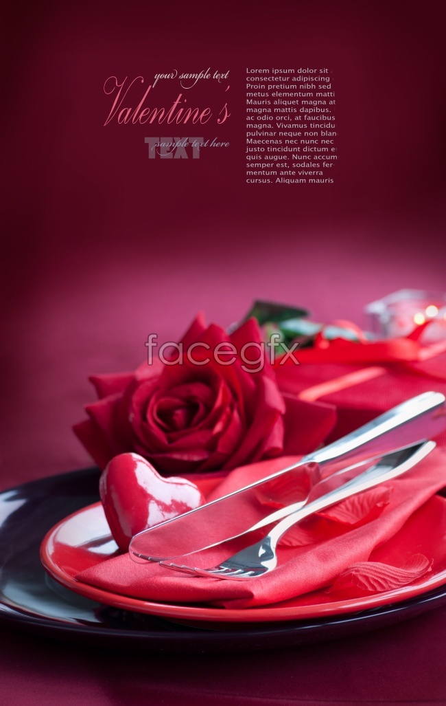 Roses Western tableware pictures