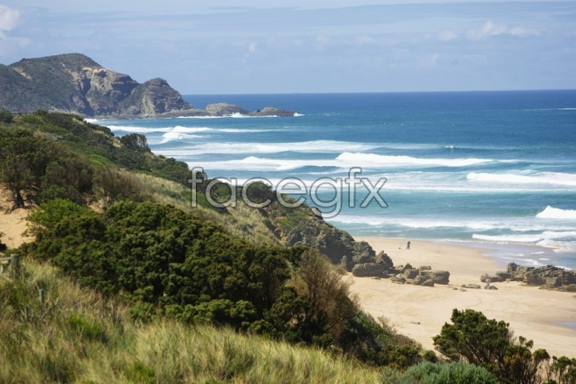 Sea waves scenery picture