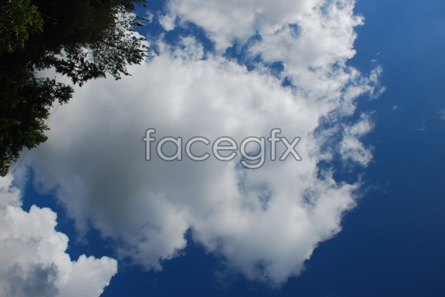 Sky scenery picture material