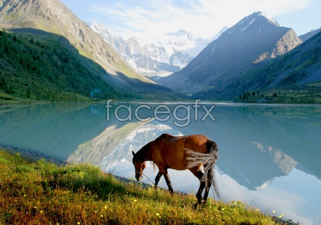 Beautiful Lake scenery pictures