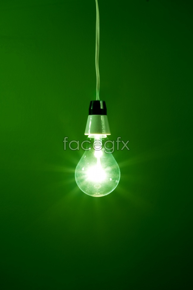 Green background green bulb HD pictures