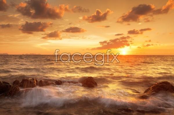 Beach Sunset landscape picture