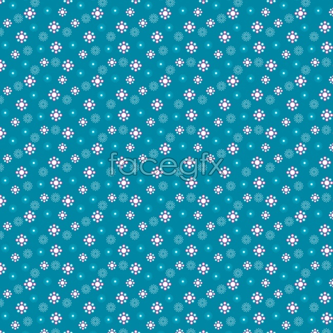 Tiled blue and white small flowers beautiful background pictures